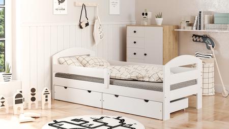 lit simple avec tiroirs