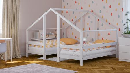 lits en bois massif, lits scandinaves, lit pour enfant, lit d'enfant, lit pour enfants, lit simple, lits écologiques, lits éco, lits style scandinave, lits scandinaves, lit cabane, lit en forme de maison, lit double, lit pour deux enfants