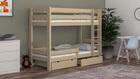 lits superposés en bois massif